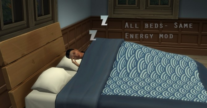 Sims 4 All Beds Give Same Energy by christmas fear at Mod The Sims