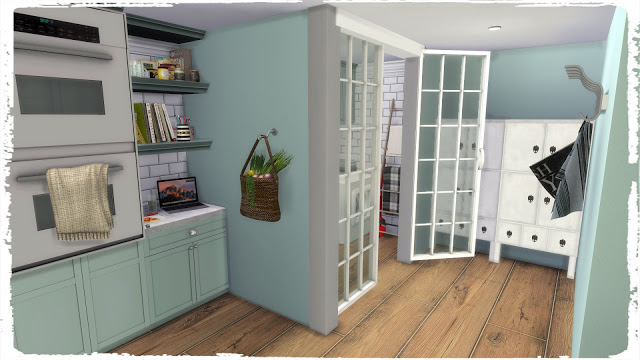 Sims 4 Kitchen with Laundry at Dinha Gamer