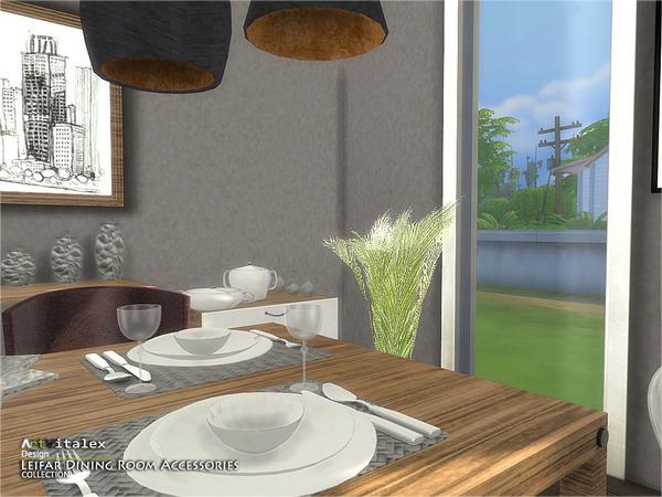 Leifar dining room accessories by artvitalex at tsr sims for Dining room decor accessories