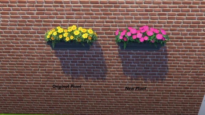 Sims 4 Merry Geranium Windowbox by Snowhaze at Mod The Sims