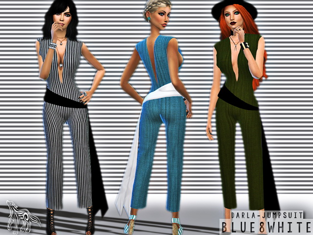 DARLA JUMPSUIT WITH BELT at Blue8white image 587 Sims 4 Updates
