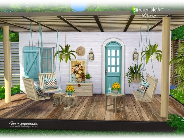 Breezy patio by SIMcredible at TSR image 589 Sims 4 Updates
