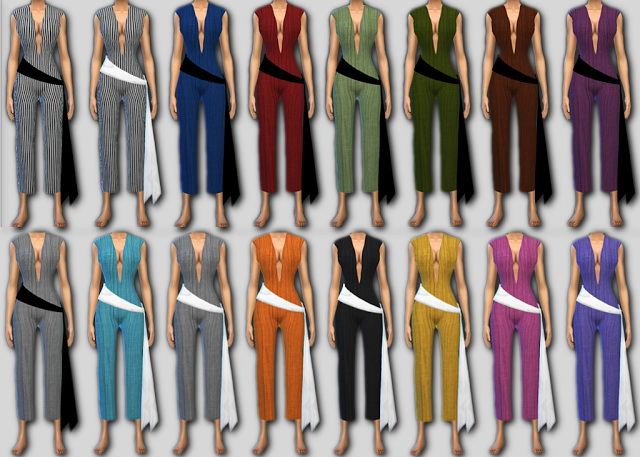 DARLA JUMPSUIT WITH BELT at Blue8white image 597 Sims 4 Updates
