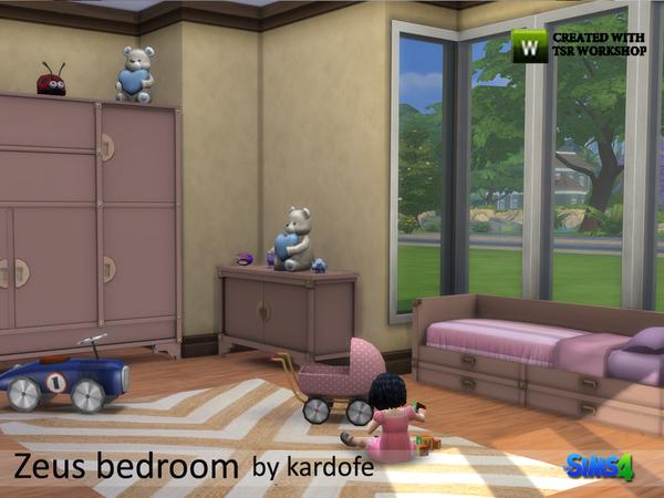 Sims 4 Zeus bedroom by kardofe at TSR