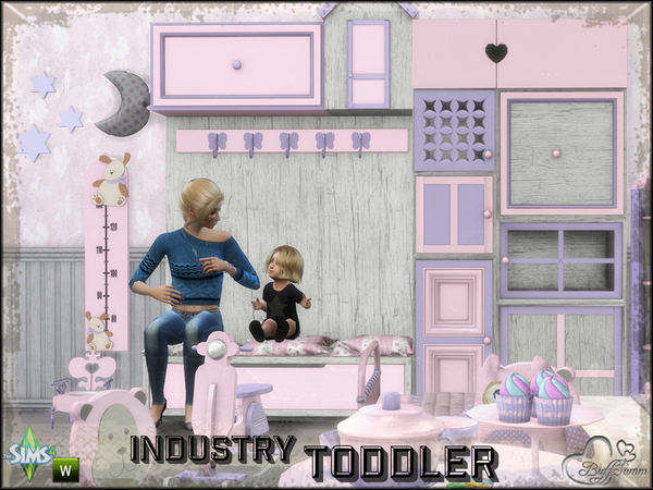 Sims 4 Toddler Room Industry by BuffSumm at TSR