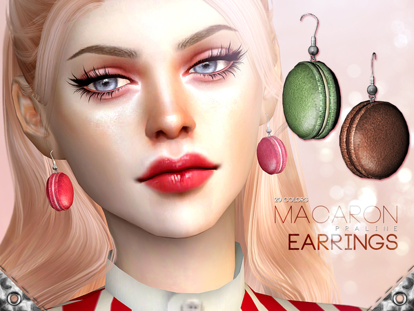Macaron Earrings by Pralinesims at TSR image 6113 Sims 4 Updates
