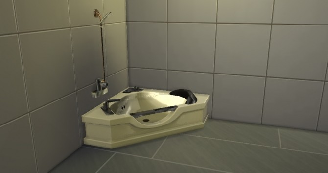 First Corner Bath with Shower Combo by Jezek at Mod The Sims image 619 670x353 Sims 4 Updates