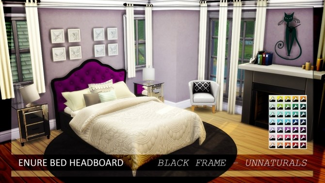 Bed Headboard Unnaturals at Enure Sims image 6215 670x377 Sims 4 Updates