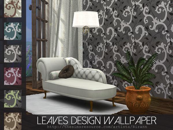 Sims 4 Leaves Design Wallpaper by Rirann at TSR