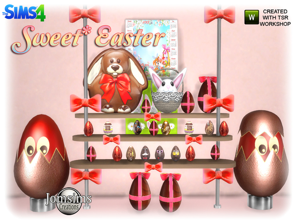 Sweet easter set by jomsims at TSR image 627 Sims 4 Updates