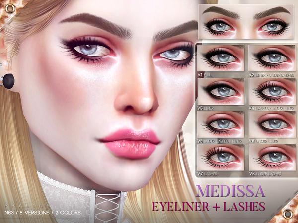 Sims 4 Medissa Eyeliner N63 by Pralinesims at TSR