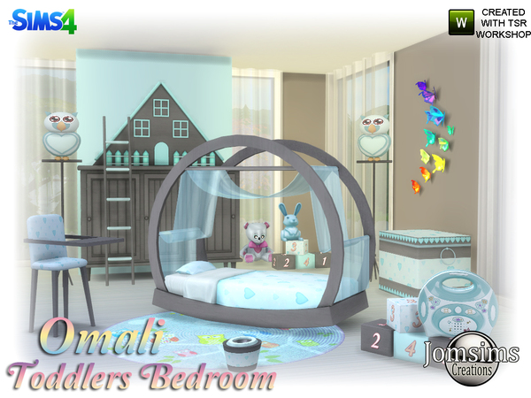 Omali Toddlers Bedroom by jomsims at TSR image 640 Sims 4 Updates