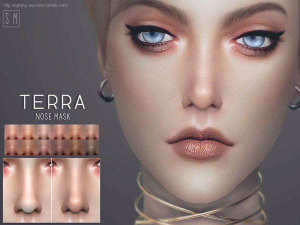 Sims 4 Terra Nose Mask by Screaming Mustard at TSR