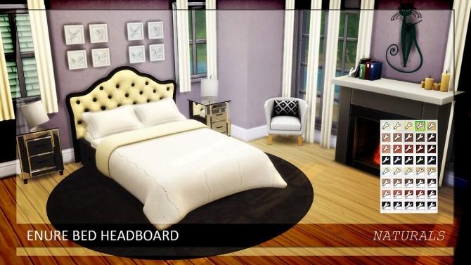 Sims 4 Bed Headboard Naturals Colors at Enure Sims