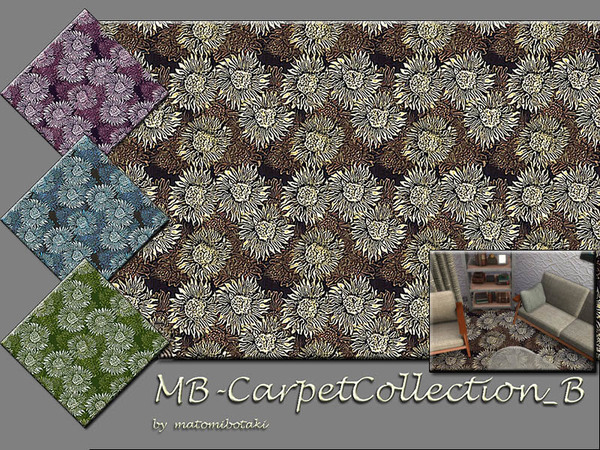 Sims 4 MB Carpet Collection B by matomibotaki at TSR