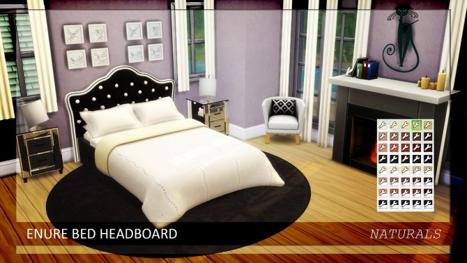 Bed Headboard Naturals Colors at Enure Sims image 6816 670x377 Sims 4 Updates