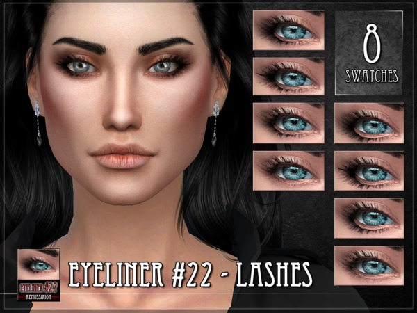 Sims 4 Eyeliner 22 Lashes by RemusSirion at TSR