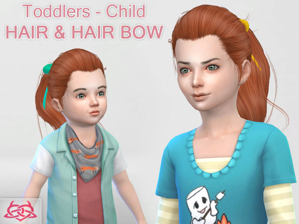 Child & toddler Hair & Hair bow by Colores Urbanos at TSR image 702 Sims 4 Updates