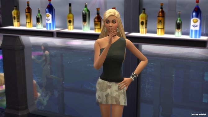 One shoulder top by cowplant simmer at Mod The Sims image 705 670x377 Sims 4 Updates