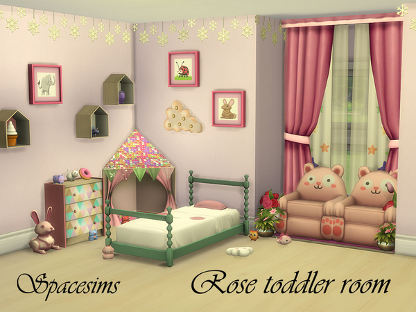 Sims 4 Rose toddler room by spacesims at TSR