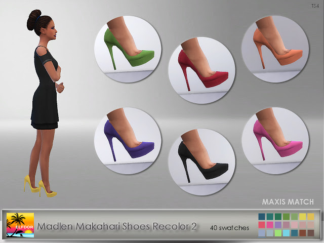 Sims 4 Madlen Makahari Shoes Recolor 2 at Elfdor Sims