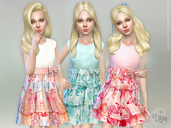 Sims 4 Designer Dresses Collection P73 by lillka at TSR