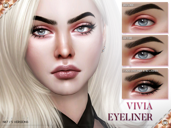 Sims 4 Vivia Eyeliner N67 by Pralinesims at TSR