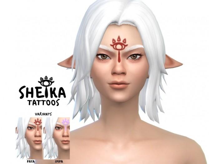 Sims 4 Sheika Tattoos by Meihyr at SimsWorkshop