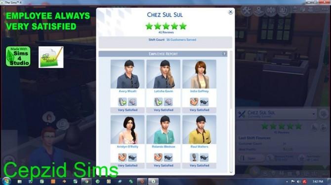 Sims 4 Employee always very satisfied by cepzid at SimsWorkshop