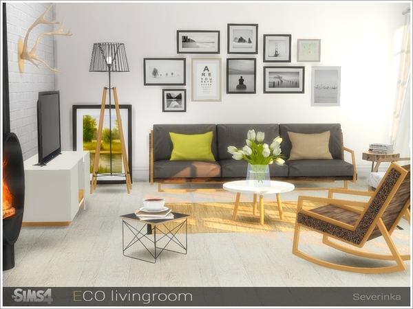 ECO livingroom by Severinka at TSR image 73 Sims 4 Updates