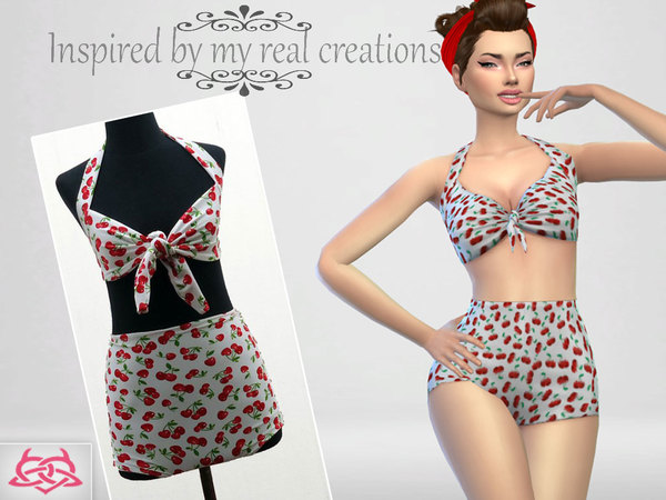Sims 4 Pin up Swimwear 1 by Colores Urbanos at TSR