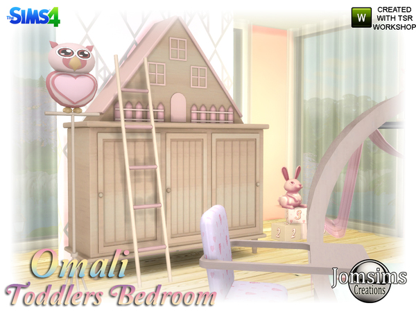 Omali Toddlers Bedroom by jomsims at TSR image 740 Sims 4 Updates