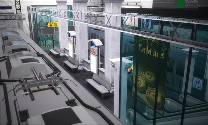 The Entrance To The Subway Continued At Nyuska 187 Sims 4