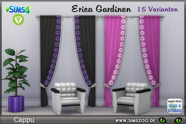 Erica curtains by Cappu at Blacky's Sims Zoo image 747 Sims 4 Updates