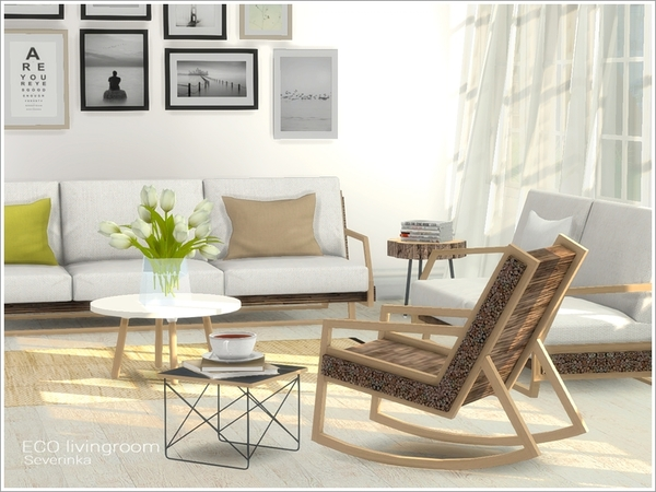 ECO livingroom by Severinka at TSR image 76 Sims 4 Updates