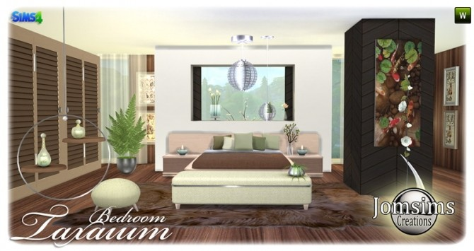 Sims 4 Taxaium Bedroom at Jomsims Creations