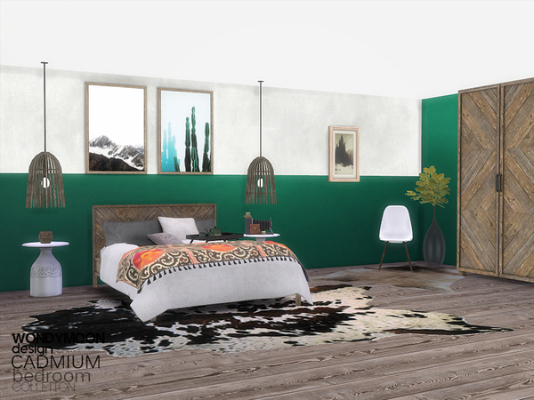 Cadmium Bedroom by wondymoon at TSR image 770 Sims 4 Updates