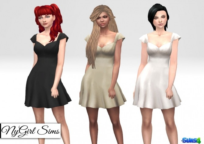 Sims 4 Ruffle Sleeve Spring Dress at NyGirl Sims