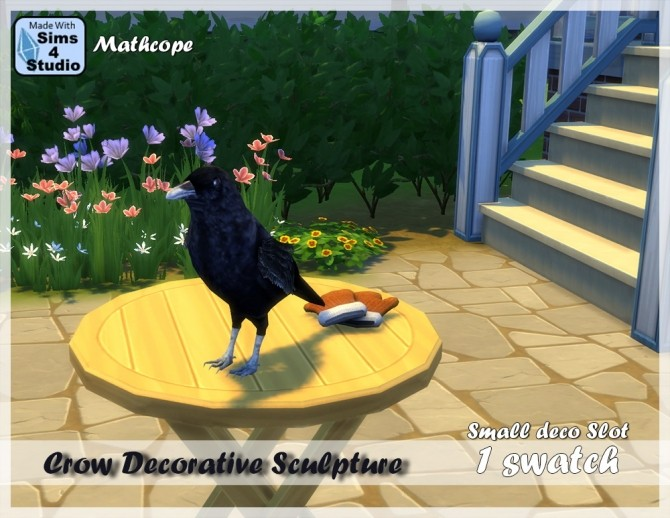 Sims 4 Decorative crow sculpture by Mathcope at Sims 4 Studio