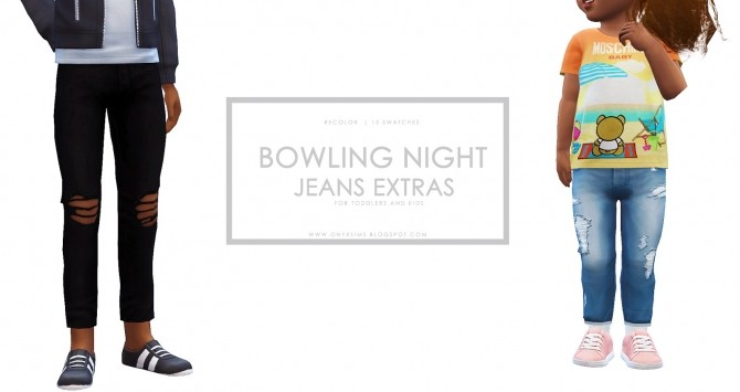Sims 4 BN Skinny Jeans Extras at Onyx Sims