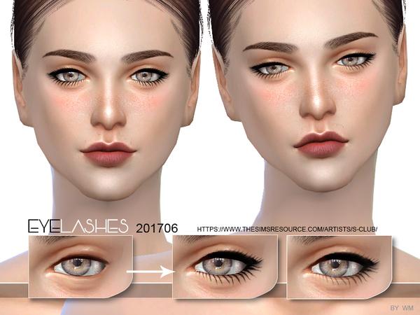 Sims 4 Eyelashes 201706 by S Club WM at TSR