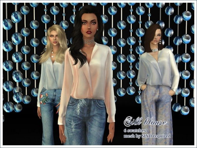 Sims 4 Silk Blouse Retexture by Feyona at Sims 4 Studio