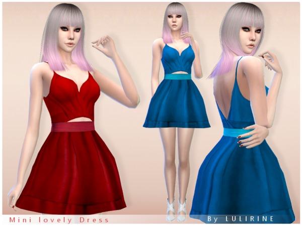 Sims 4 Short lovely Dress by LULIRINE at TSR