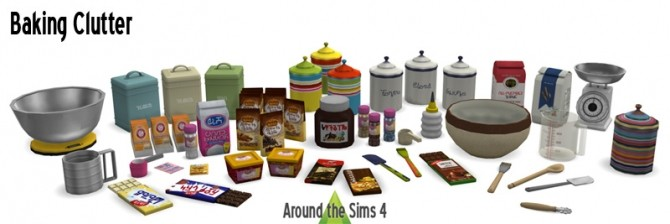 Baking clutter by Sandy at Around the Sims 4 image 8010 670x224 Sims 4 Updates