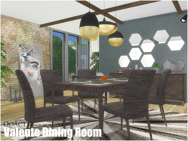 Valente Dining Room by QoAct at TSR image 8100 Sims 4 Updates