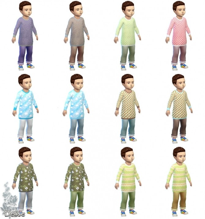 Anthime toddler outfit by Delise at Sims Artists » Sims 4