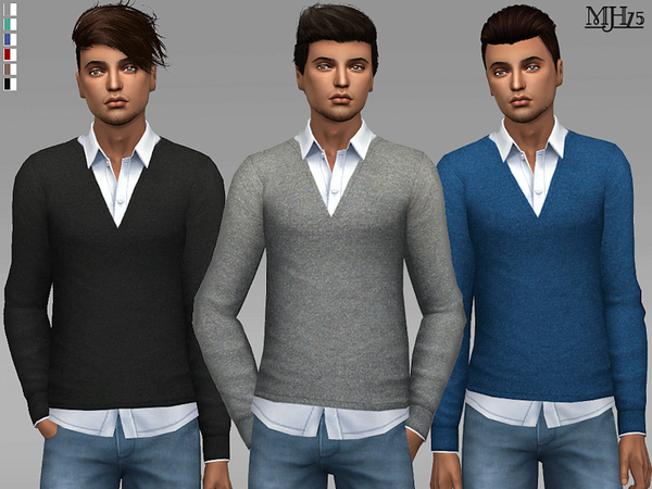 Sims 4 Tobias Tops by Margeh 75 at TSR