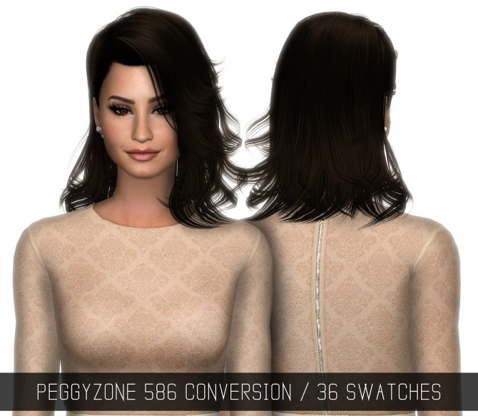 PEGGYZONE 586 Hair CONVERSION at Simpliciaty image 817 670x583 Sims 4 Updates