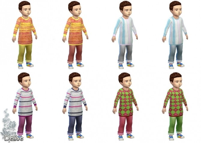 Sims 4 Anthime toddler outfit by Delise at Sims Artists