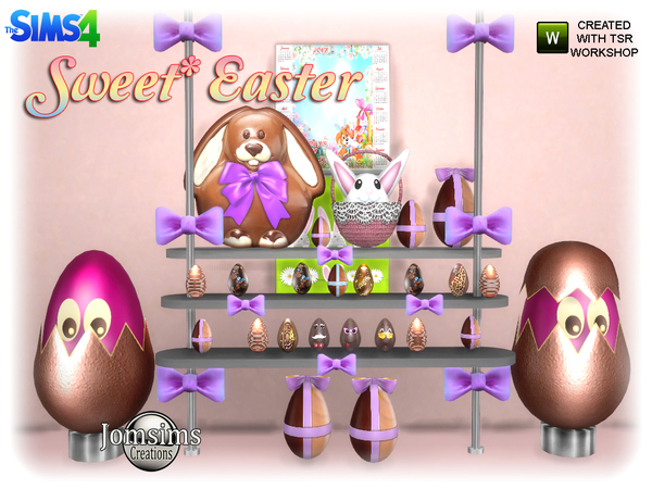 Sweet easter set by jomsims at TSR image 827 Sims 4 Updates